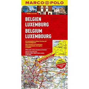 BELGIUM /LUXEMBOURG MARCO POLO MAP |
