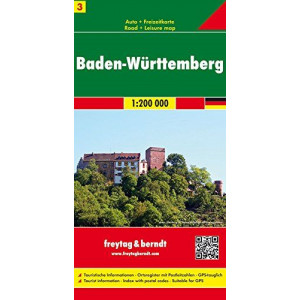 GERMANY3: BADEN WURTEMBERG FREYTAG MAP |