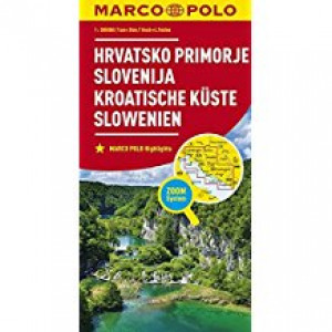 CROATIAN COAST AND SLOVENIA MARCO POLO MAP |