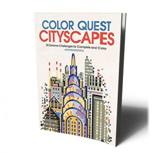 COLOR QUEST: CITYSCAPES: 30 EXTREME CHALLENGES TO C | WOODCOOK, J.