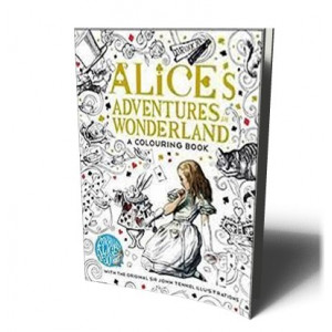 ALICE IN WONDERLAND COLOURING BK |