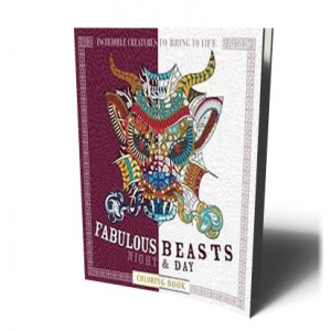 FABULOUS BEASTS NIGHT & DAY COLORING BOOK | MOFFETT, P