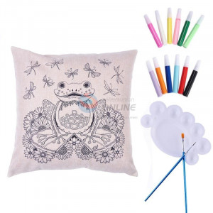 צפרדע נסיך הביצה - ART COLORING PILLOW |