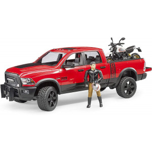 ג'יפ Ram 2500 Power Wagon + אופנוע Ducati ונהג ברודר |